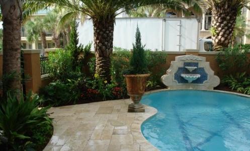 emerald coast nursery pool deck landscaping