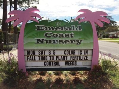 emerald coast nursery sign